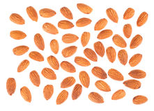 Almond nuts top view Stock Photos
