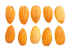 Almond nuts on white Stock Image