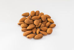 Almond nuts. On white background Stock Photo