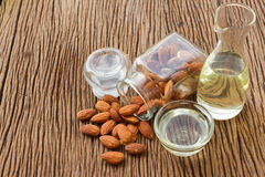 Almond oil and almonds seed for beauty spa Royalty Free Stock Photography