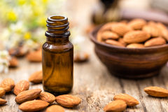 Almond and oil royalty free stock photography