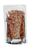 Almond in packaging foil zip lock bag Royalty Free Stock Photos