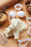 Almond paste with baking ingredients Stock Photography