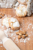 Almond paste Stock Images
