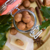 Almond paste potatoes Stock Photography