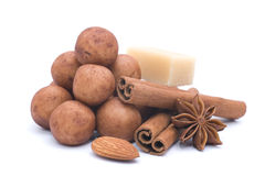 Almond paste potatoes Royalty Free Stock Photography