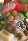 Almond paste potatoes Stock Image