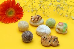 Almond paste sweets Stock Images