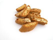 Almond pastry - Cantuccini. Almond pastry on white background Royalty Free Stock Image