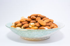 Almond peanut and Hazel nuts Stock Photo