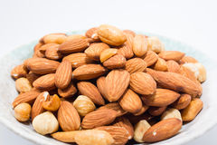 Almond peanut and Hazel nuts Stock Image