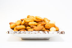 Almond peanut and Hazel nuts Stock Photography