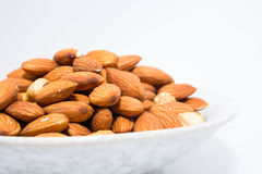 Almond peanut and Hazel nuts Royalty Free Stock Image