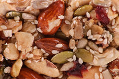 Almond and Peanuts Cluster Stock Image