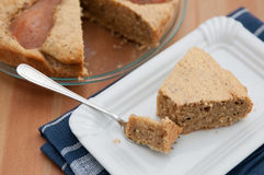 Almond Pear Cake Stock Images