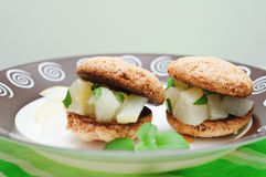 Almond and pear cookies Stock Image