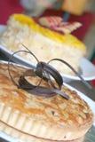 Almond pie cake Stock Photos