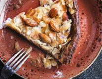 Almond pie food photography recipe idea stock photo