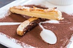 Almond pie stick topped Royalty Free Stock Photos