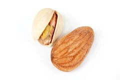 Almond and pistachio Royalty Free Stock Image