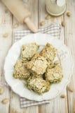 Almond and pistachio slices Stock Photos