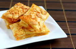 Almond Puff Pastry Stock Image