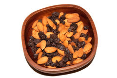 Almond & raisins Stock Images