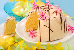 Almond ring cake for easter Stock Photo