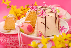 Almond ring cake for easter Royalty Free Stock Photography