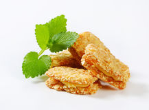 Almond sandwich cookies Royalty Free Stock Image