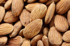 Almond seed background, pattern, texture Stock Images