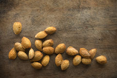 Almond shell nuts Stock Photos