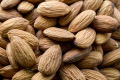 Almond without shell. Raw fresh organic nuts. Healthy food on the farmer market
