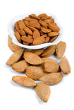 Almond shells and cores Stock Image