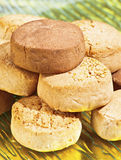 Almond shortbread stock photo