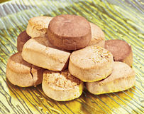 Almond shortbread Stock Image