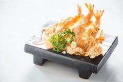Almond shrimp tempura Royalty Free Stock Photo