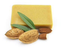 Almond soap Stock Photos