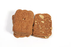 Almond speculaas cookies Royalty Free Stock Photos