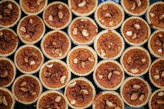 Almond tart. New baking, almond tar, chiangmai walking street Royalty Free Stock Photos