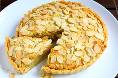 Almond tart Royalty Free Stock Photography