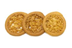 Almond tart and so sweet flavored cookies. stock images
