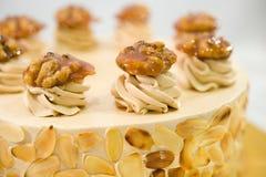Almond Toffee Cake Stock Photos