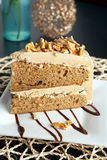 Almond Toffee Cake Royalty Free Stock Photo