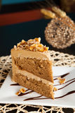 Almond Toffee Cake Stock Photos