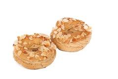 Almond topped cream choux Royalty Free Stock Photos