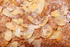 Almond topping on cake Royalty Free Stock Photo