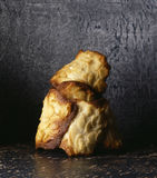 Almond tuile biscuits. Food, gastronomy, cuisine,cookery Royalty Free Stock Photography