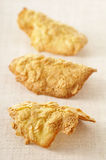 Almond tuile biscuits Stock Photos