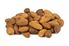 Almond on white Royalty Free Stock Photo